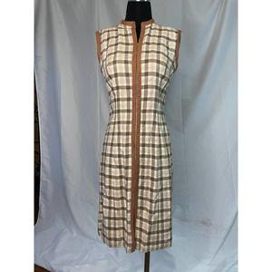 Vintage 1970s zip up the front summer work dress